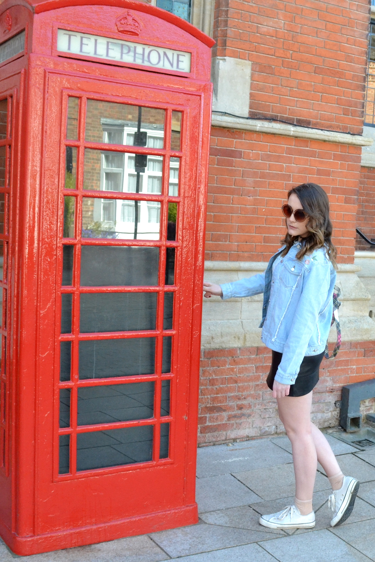 denim jacket phonebox shoot fashion new look