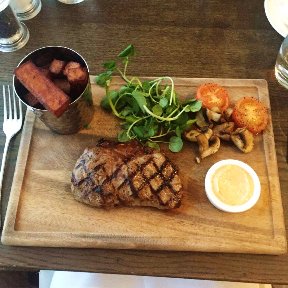sirloin steak north the grange hotel bristol