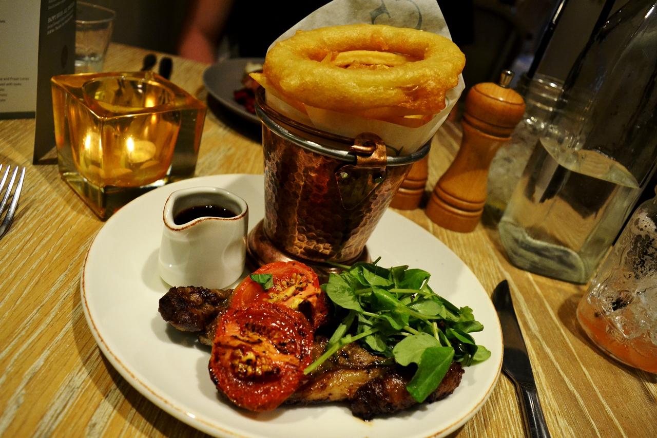 sirloin steak french fries george's worsley