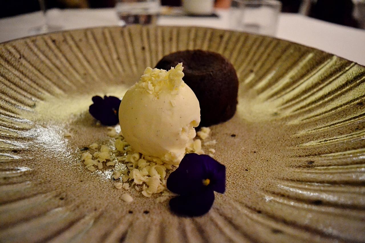 chocolate fondant dessert beech hill hotel