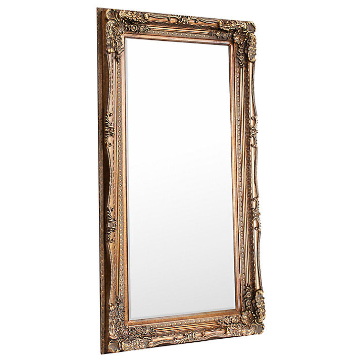 Carved Louis Leaner Mirror, 176 x 89.5cm, Gold