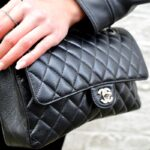 chanel bag quilted black leather