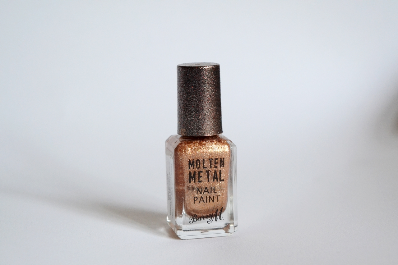 barry m molten metal nail polish bronze bae