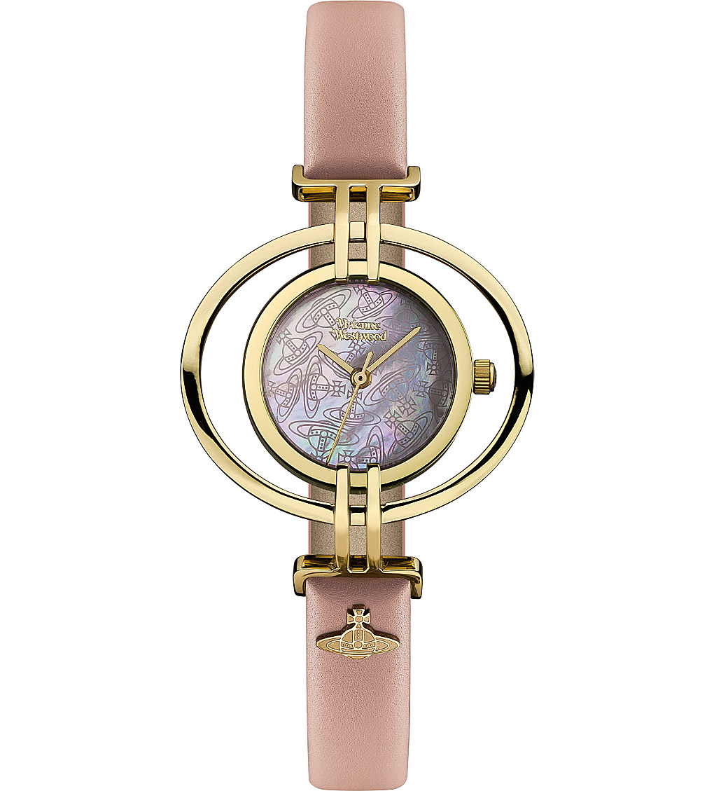 vivienne westwood Gold Plated and Leather Oval Watch - Selfridges