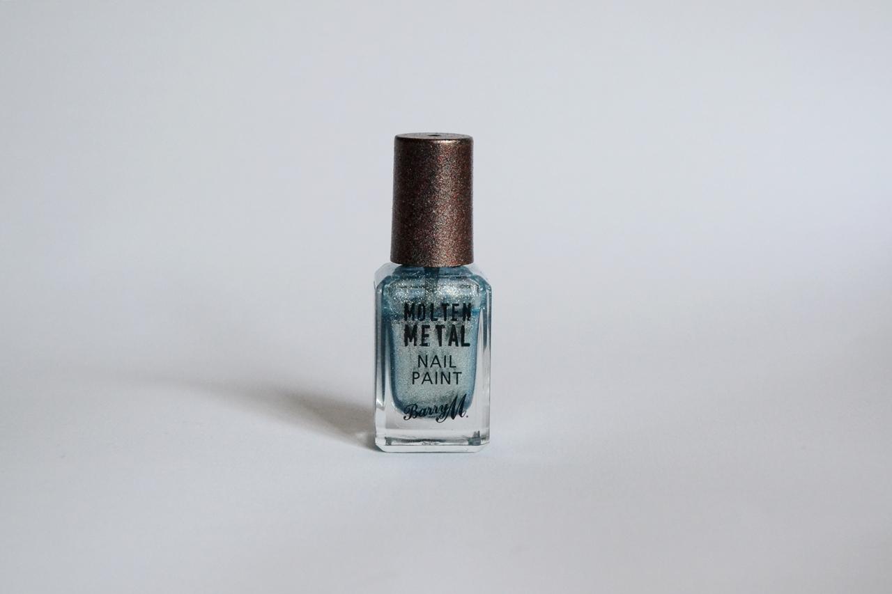 barry m molten metal nail polish blue glacier