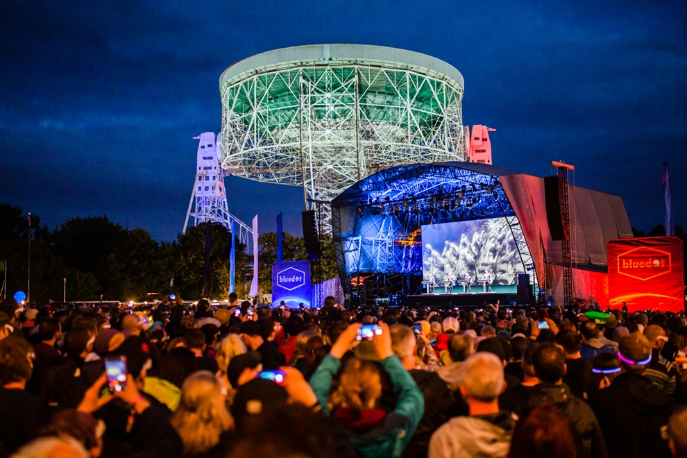 main stage bluedot festival jodrell bank lovell telescope