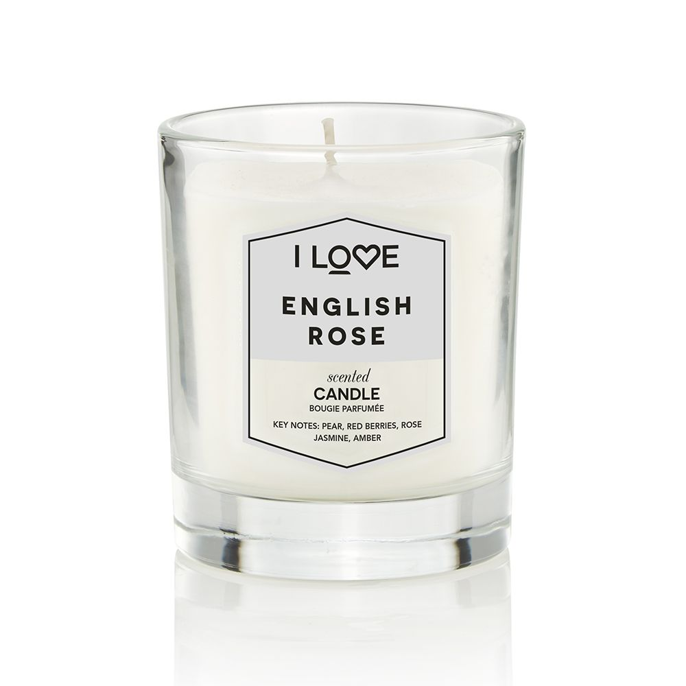 i love rose candle