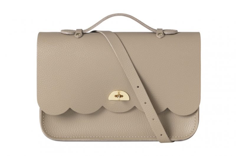 cambridge satchel cloud bag grey