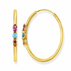 "HOOP EARRINGS ""ROYALTY COLOURFUL STONES"" £149.00"