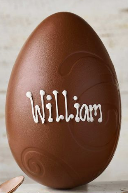 thorntons customised name chocolate easter egg