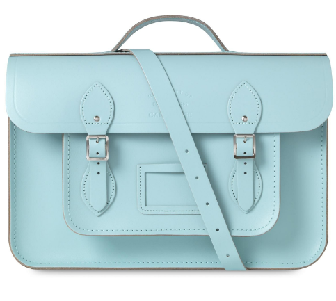 cambridge satchel pastel blue turquosie batchel