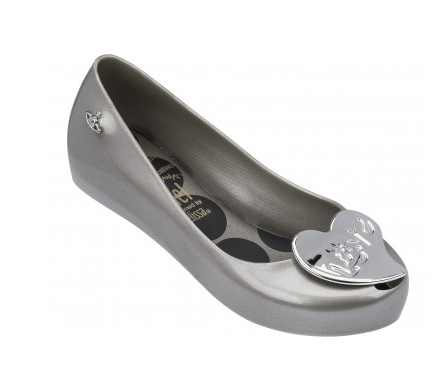 vivienne westwood melissa shoes orb grey heart