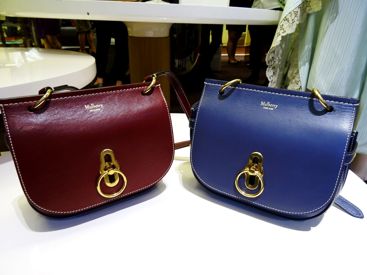 794928d2ac56 ... best price small amberley mulberry bag aw17 blue oxblood e6b94 48f09