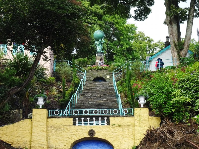 portmeirion wales uk staircase