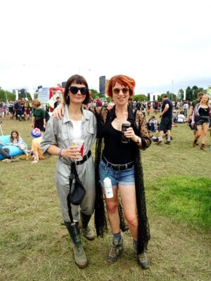 festival style spotted bluedot fashion