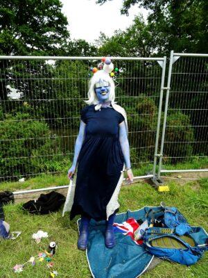 alien dress up bluedot fashion style