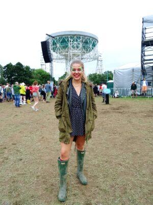 polkadot playsuit festival style fashion bluedot