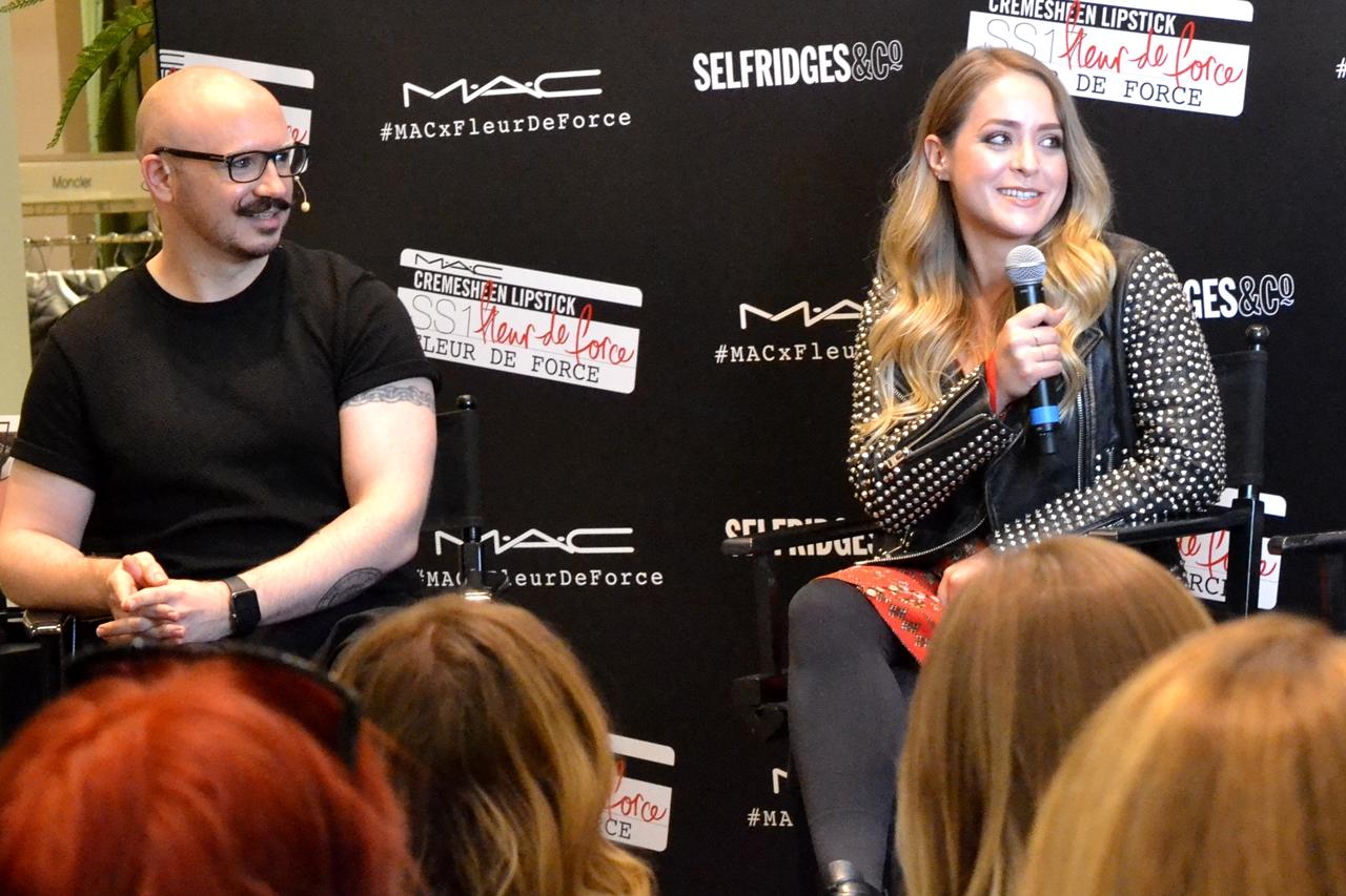 fleur de force interview mac lipstick launch