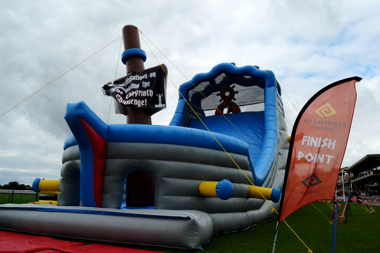 inflatable slide haydock racecourse labyrinth