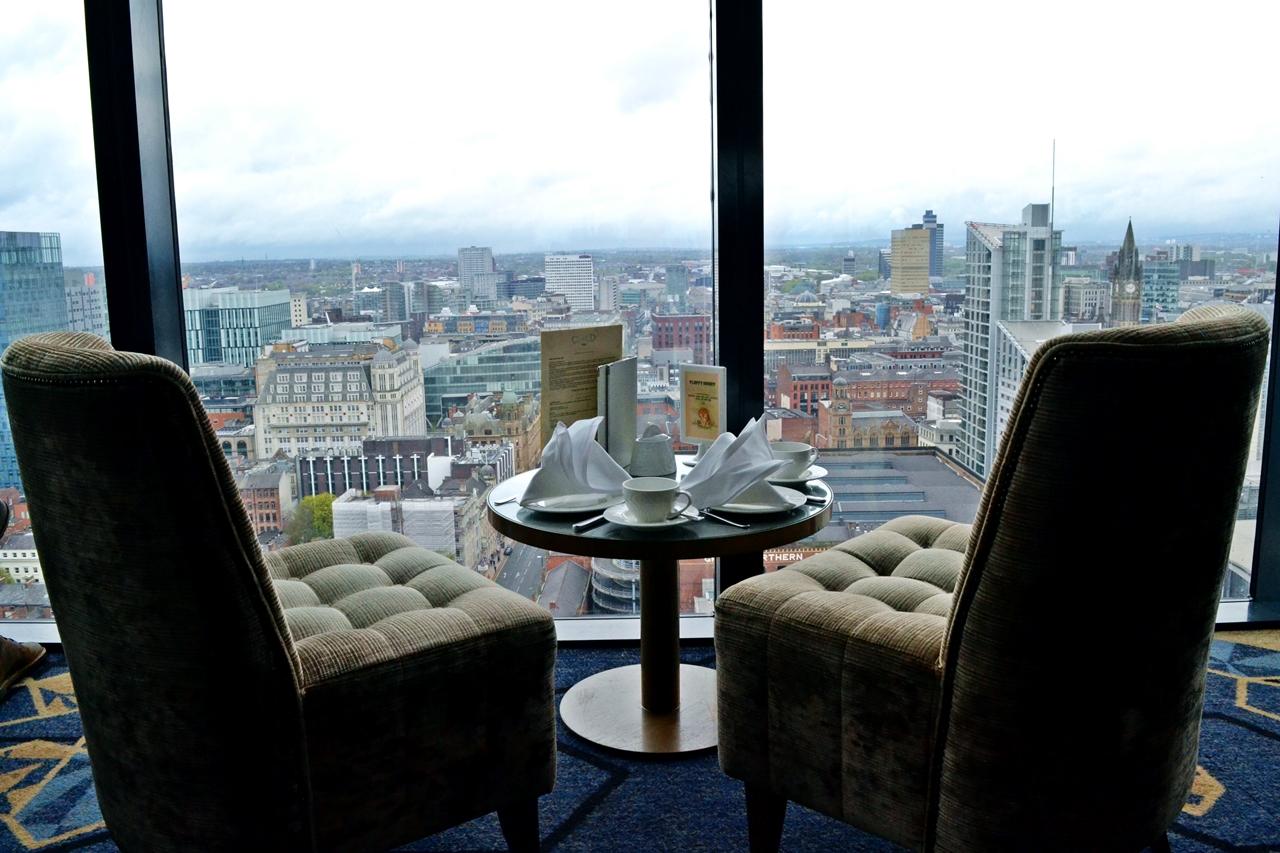 cloud 23 hilton hotel manchester bar view