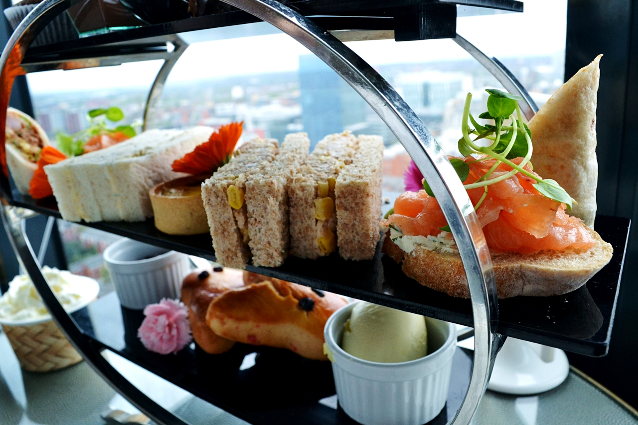 savoury snacks afternoon tea manchester cloud 23