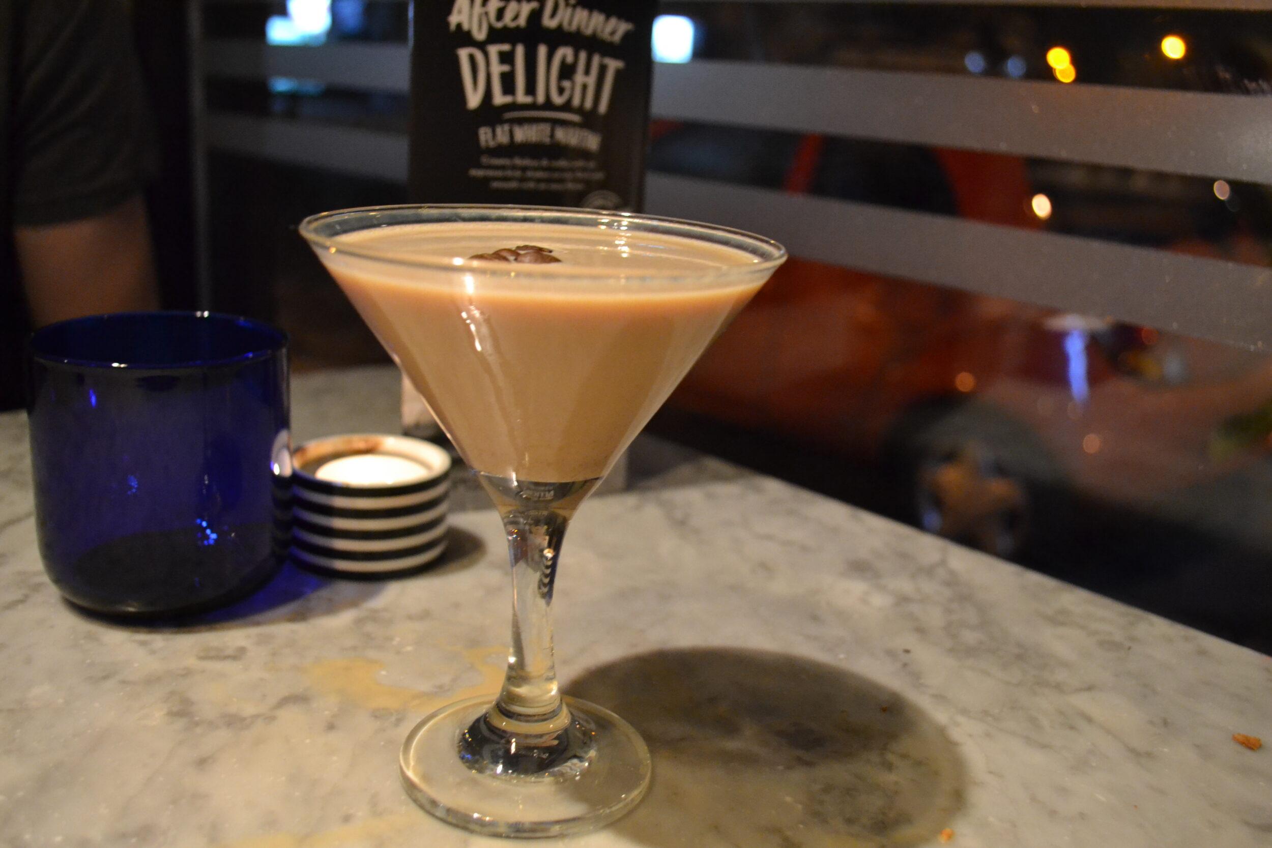 flat white martini espresso cocktail pizza express dessert