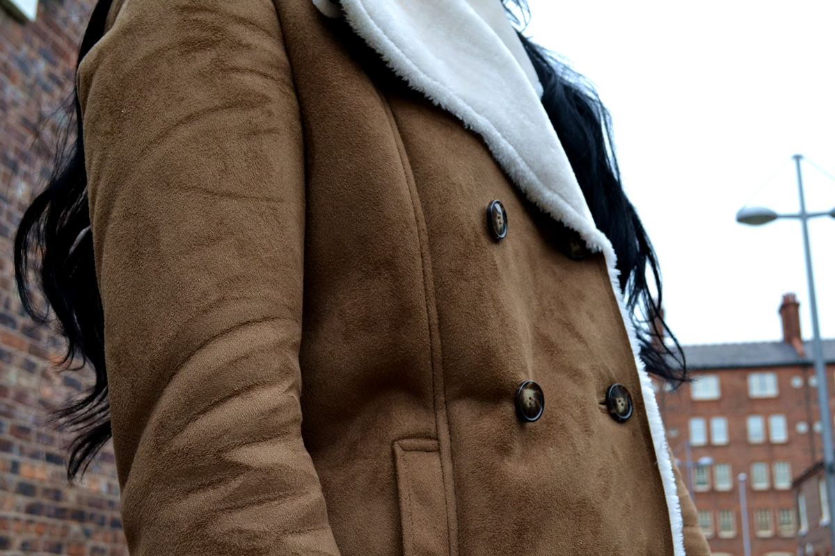 trend editorial shearling sheepskin jacket how to style aw16 manchester