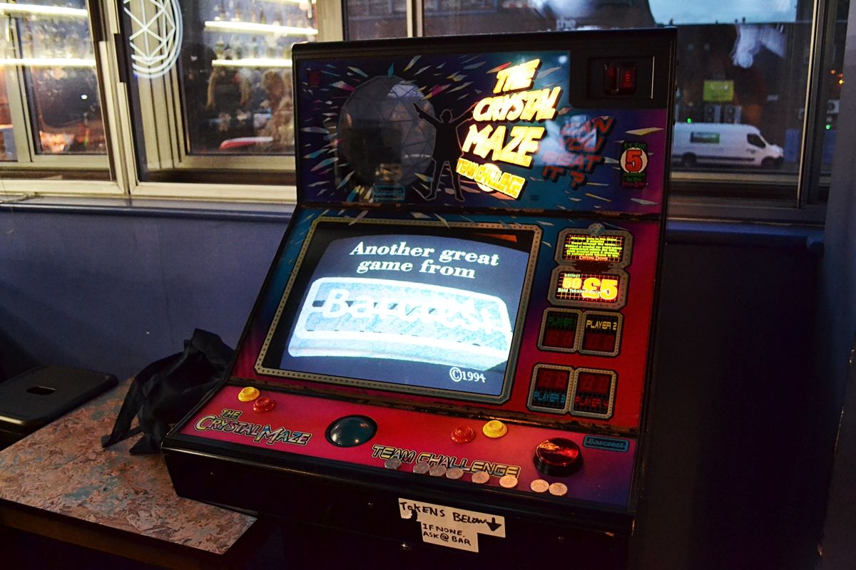 the crystal maze retro video game machine london