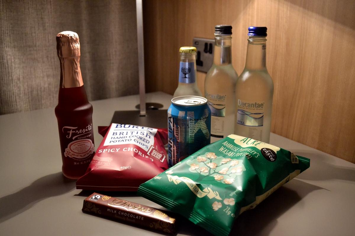 treats complimentary ac hotel room snacks salford quays