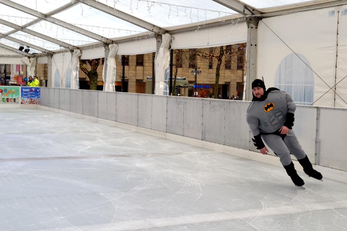 bolton council winter wonderland snow slide ice rink