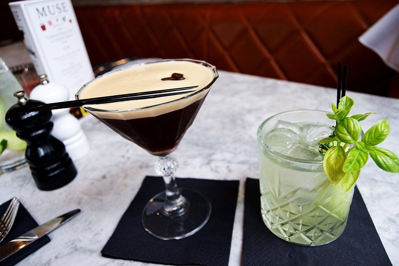 soho spritz espresso martini cocktails muse restaurant
