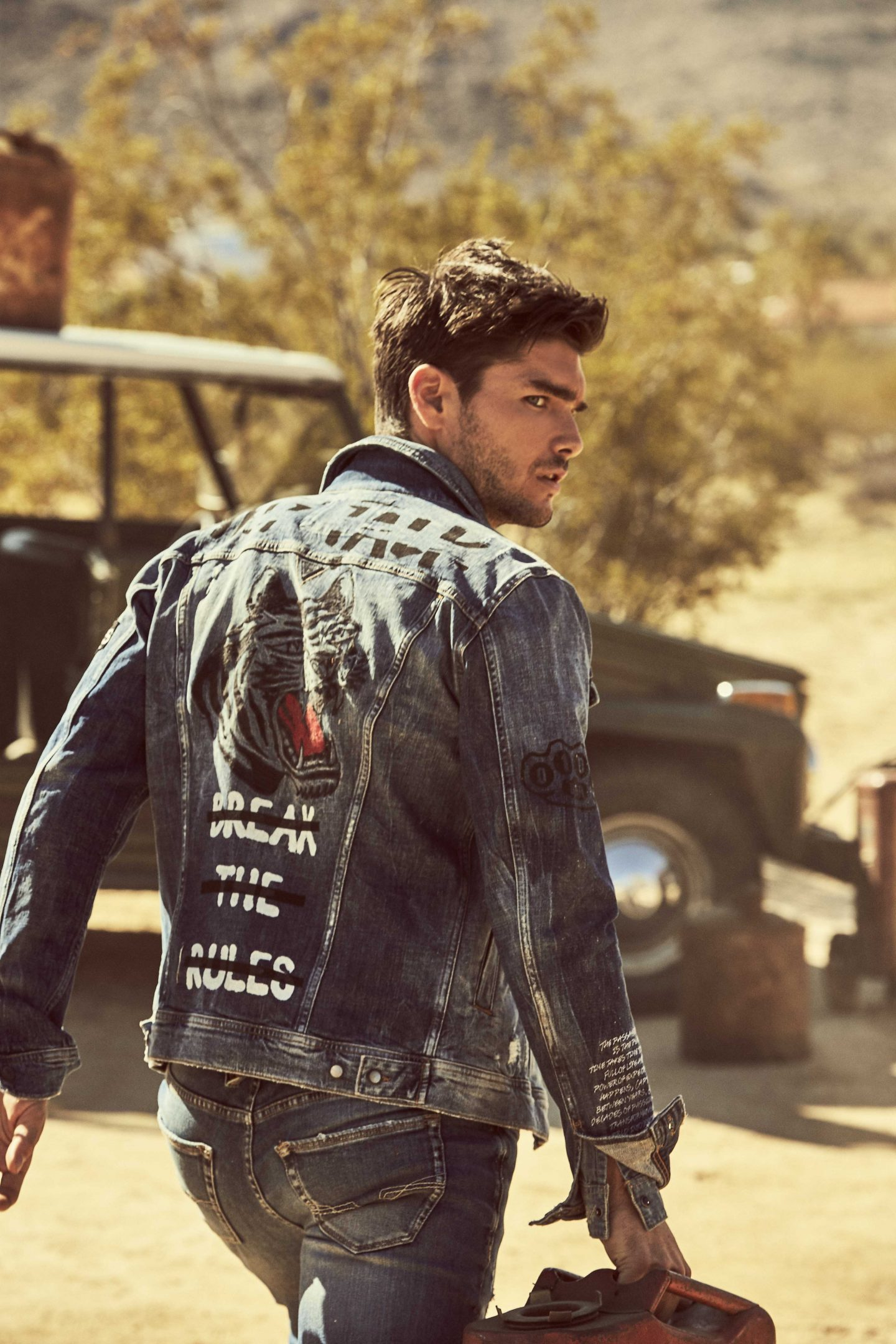 guess mens jeans aw18 jacket