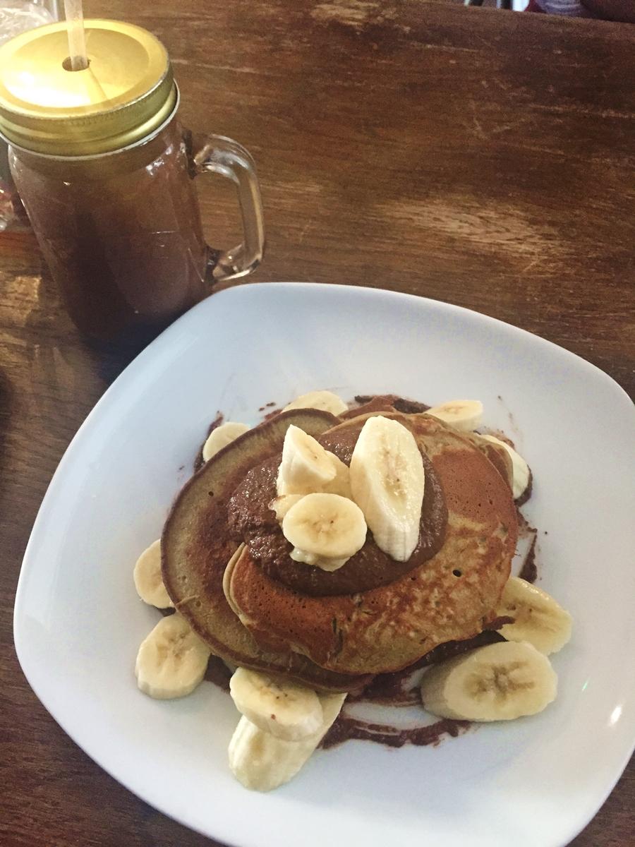 the garden hale matcha pancakes banana cacao