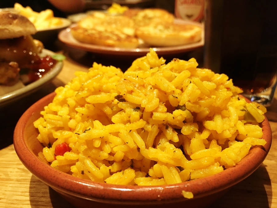 nandos manchester picadilly spicy rice