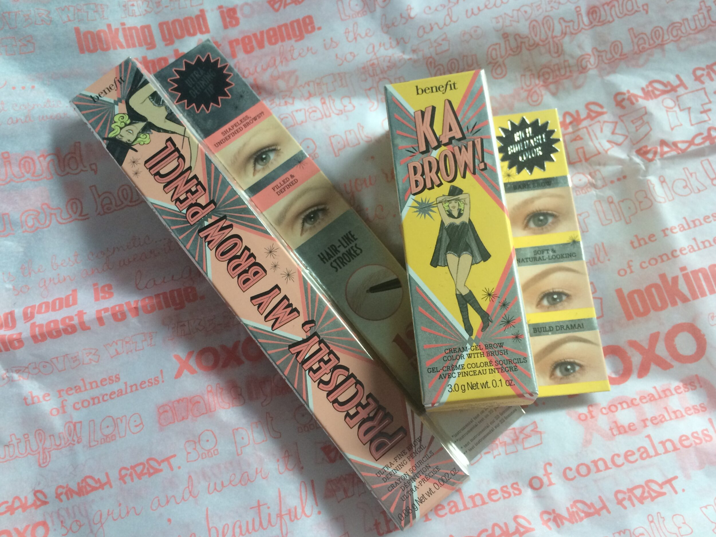 Benefit Precisely, My Brow and Ka-BROW! Cream-Gel