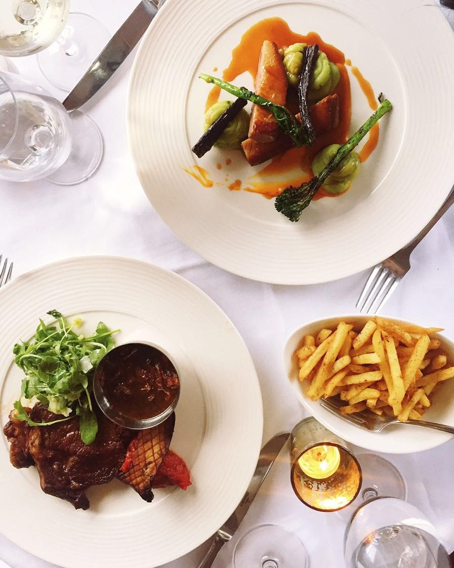 hotel gotham honey restaurant beef steak skinny fries chorizo duck breast
