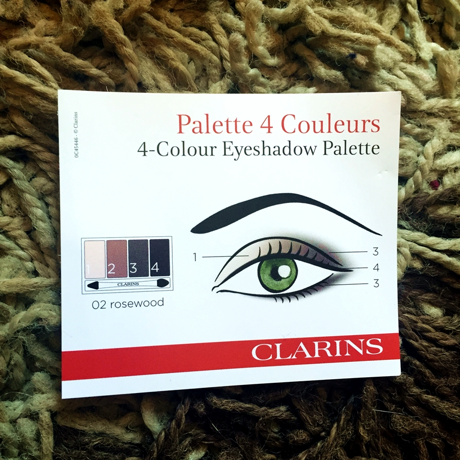 Clarins Rosewood 4 Colour Eye Palette