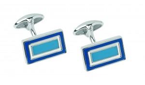 Links of London_Blue Enamel Rectangle Cufflinks_£150
