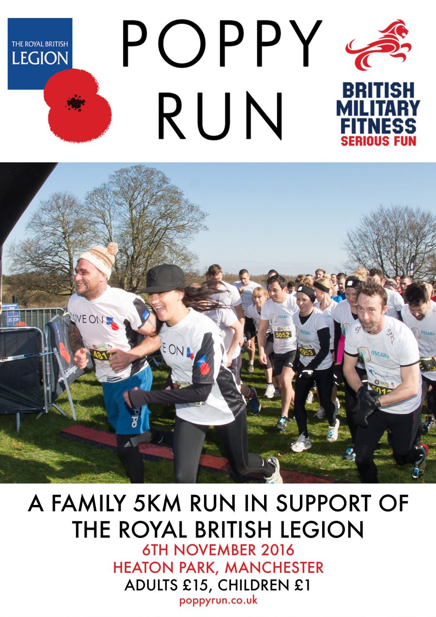 heaton park the poppy run royal british legion military armed forces