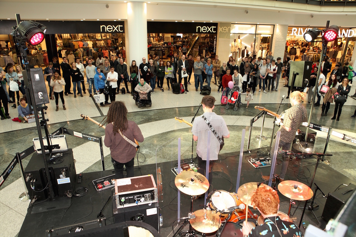 mcr student night out bands arndale manchester