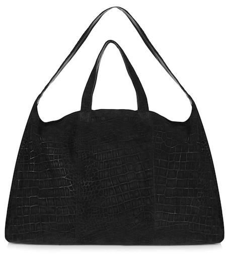 Topshop Embossed Croc Luggage Black