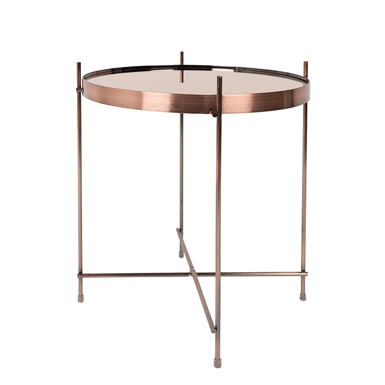 4Living Copper Round Side Table