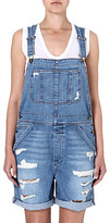 current-elliott-distressed-denim-dungarees