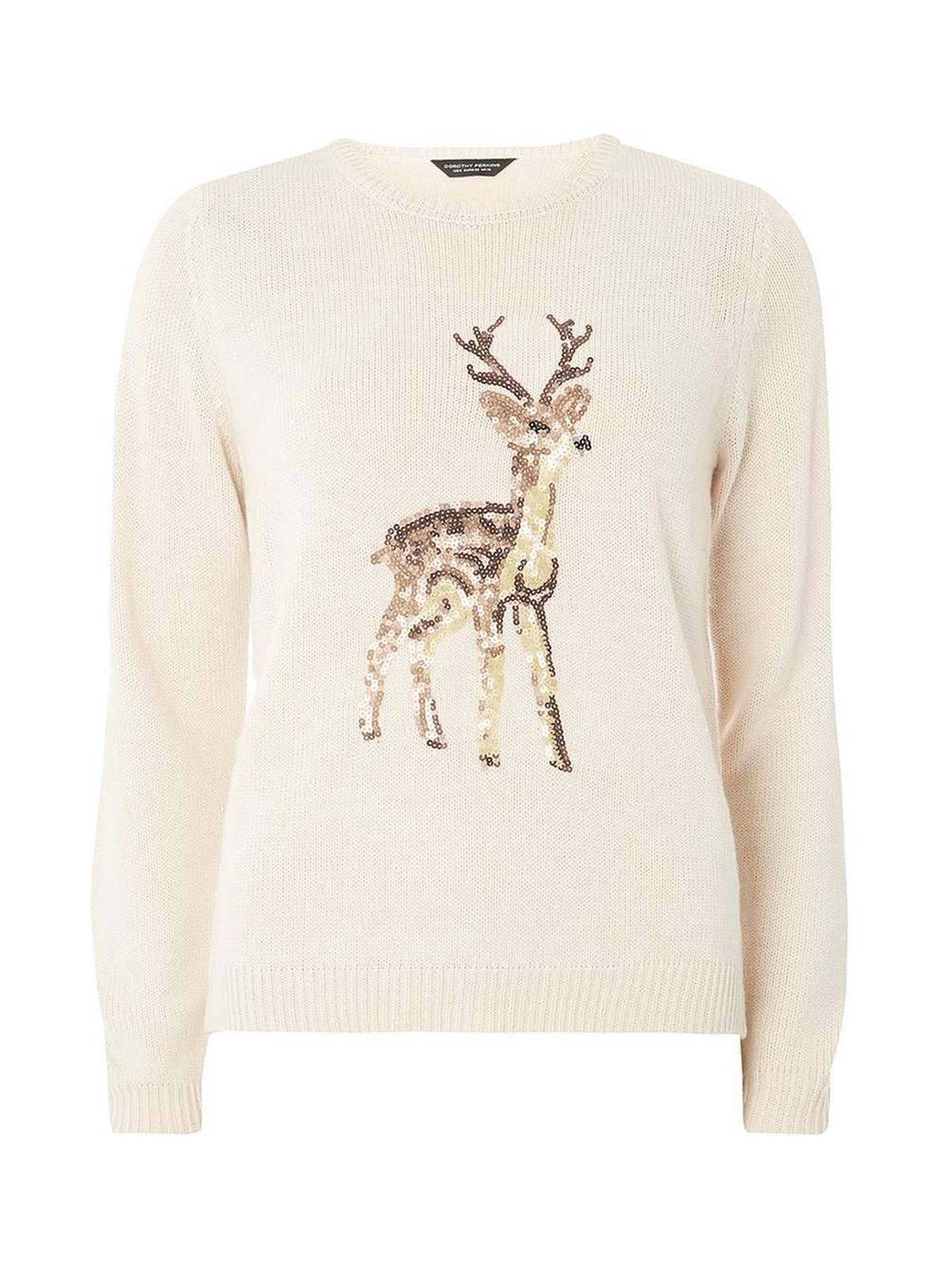 dorothy perkins deer christmas jumper top