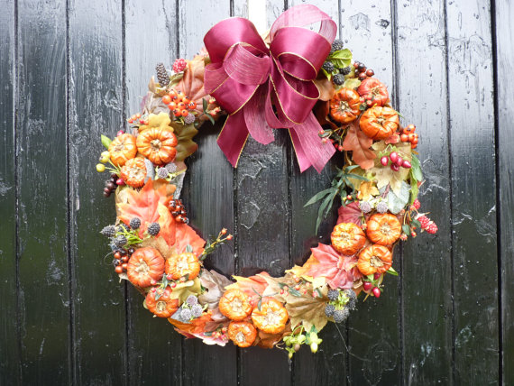 autumn wreath £55.00 etsy