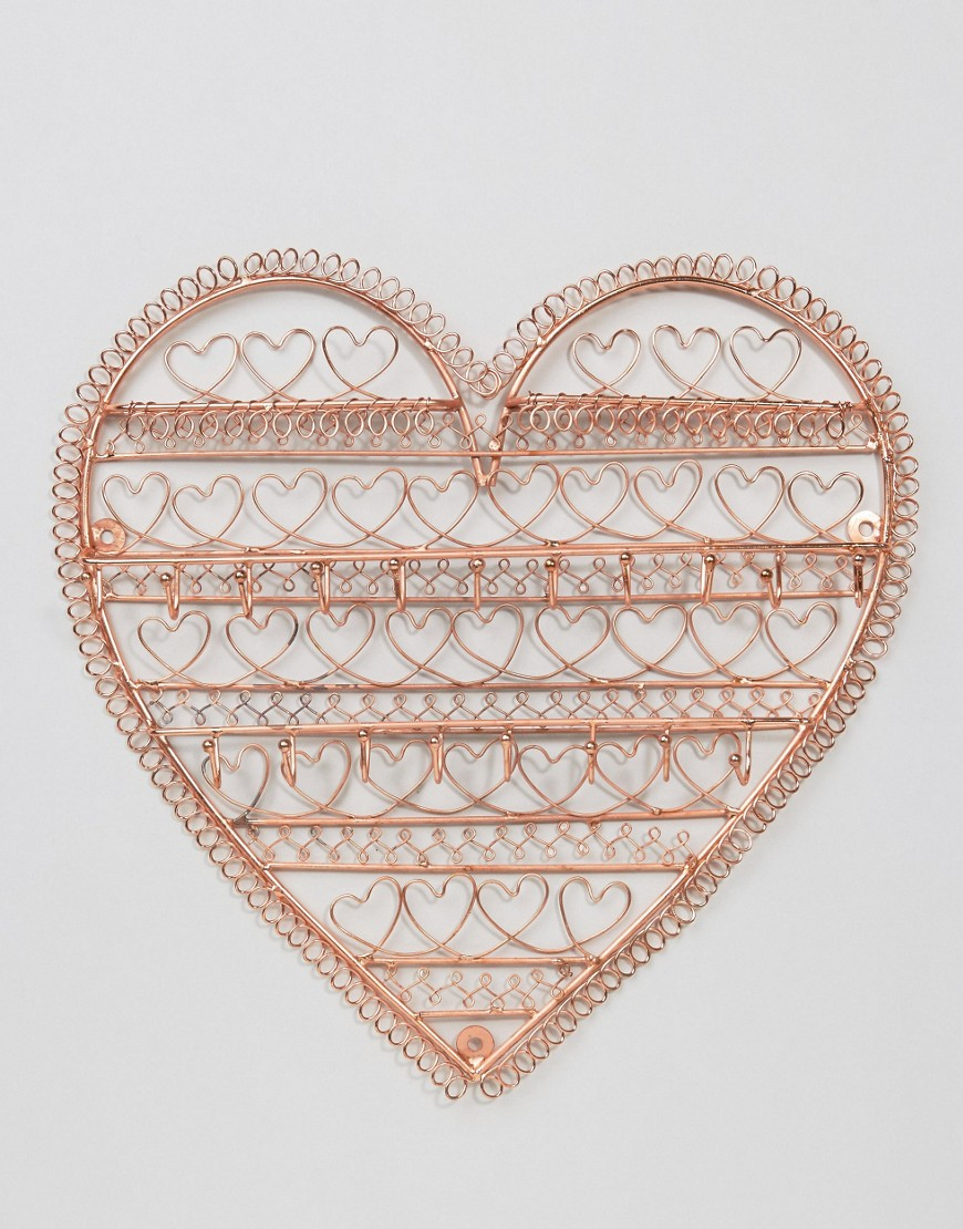 Sass & Belle Copper Heart Jewellery Holder £16.00