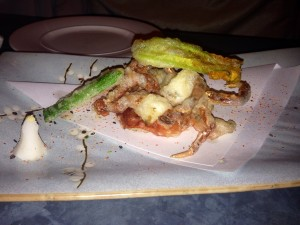 Soft Shell Crab & Courgette Flowers