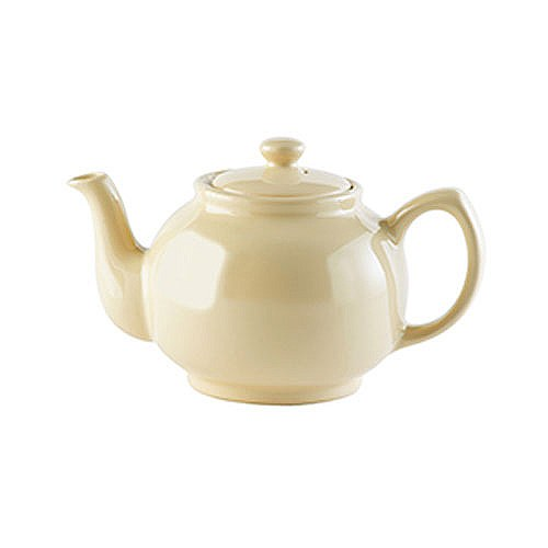 Brights Tea Pot 6 Cup Cream - Bents £8.00