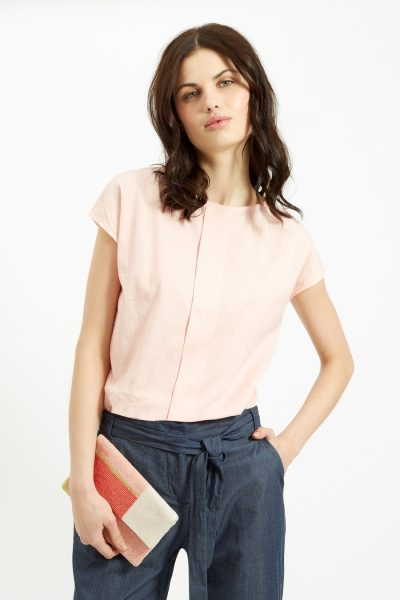 peopletree_1311631217700617 SS16, Spring, Summer, stripe, stripes, pink, top, contrast, vacation, holidays, style, womenswear, women, ladies, Fairtrade, Fair Trade, Sustainable, Ethical, Eco, Environmentally friendly, People Tree