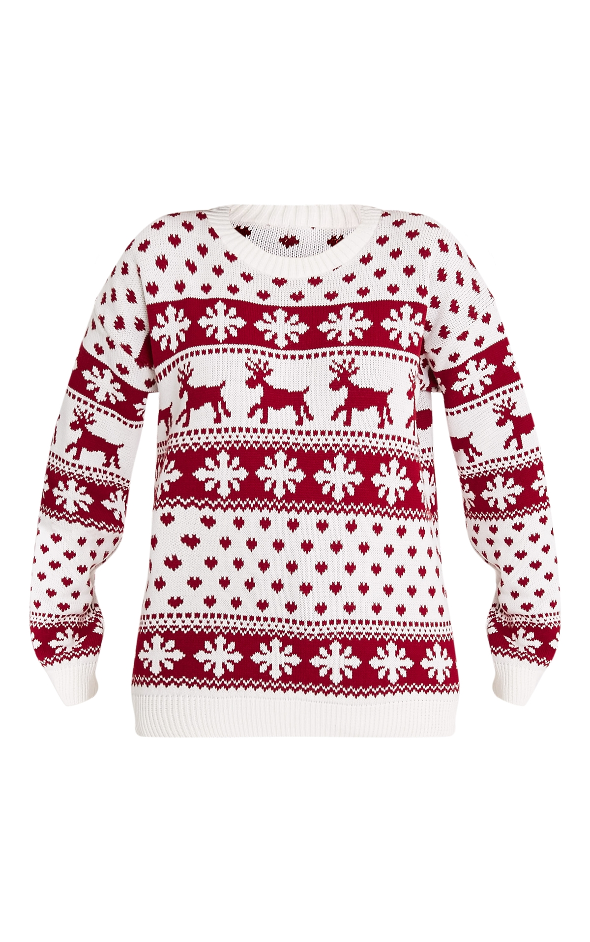 pll pretty little thing christmas jumper patterned red white